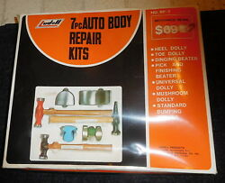 Vintage Mint Nos Ludell Auto Body Dent Repair Kit,hammer S,dolly,7 Piece