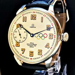 Omega Olympic Games Omega/hand-wound 1936 Pocket Mens Wristwatch