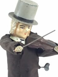 """Ferdinand Fernand Martin """" The Violinist"""" French Made Antique Windup Toy"""
