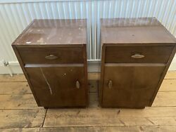 Bedside Cabinets Pair Used