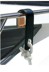 Megafend Fender Hooks For Yacht- High Quality Leather Bound Over Metal.