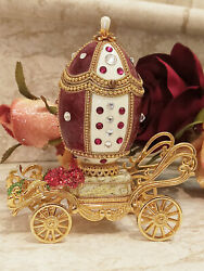 Exquisite Only One Luxury Unique Gift For Women Faberge Egg Jewelry Box 24k Gold