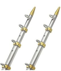 New Tele-outriggers Taco Metals Ot-0441vel15 Silver/gold Length 15and039 Fits 1-1/8
