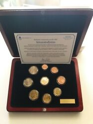 Finland 2002/ii ,euro Coin Set Incl.gold Medal In The Luxurious Wooden Case