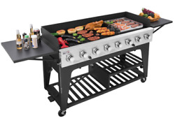 Huge Outdoor 8 Burner Event Grill Commercial Propane Lp Gas Large Bbq Party New