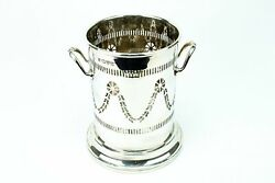Tall Wine Bottle Coaster In Sterling Silver Antique 1915