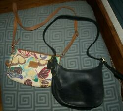 Woman#x27;s leather bags FOSSIL and vintage COACH Size S 11 7 inch $17.00