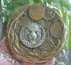 2021 China 100mm Brass With 5g Silver Medal - Lunar Year - Tiger Shanghai Mint