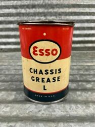 Collectible Vintage 1940andrsquos Esso Chassis Grease Can 1 Pound Gas And Oil