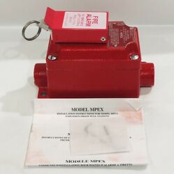 Federal Signal Mpex Explosion-proof Fire Alarm Pull Station, 120vac