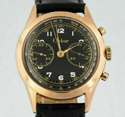 Clebar 18k Solid Red Gold Grande Double Counter Chronograph Manual - Landeron 51