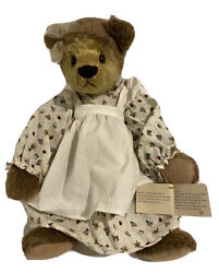 Ganz Cottage Collectible Teddy Bears - Alexis - 1999. Dress, Apron And Knickers.