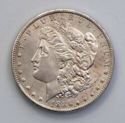 1886-o Morgan Dollar Extreme Detail Rare In This Condition Bu++ Cleaned