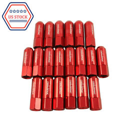 New 20pcs Red 60mm For Ford 1/2-20 L22 Mustang Aluminum Extended Tuner Lug Nuts