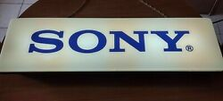 Vintage Large Sony Lighted Advertising Sign Store Display Rare Working 1mt