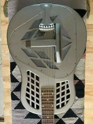 National Reso-phonic Tricone Resonator Guitar In Vintage Steel
