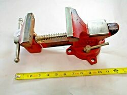 Sears Swivel Bench Vise, 3-1/2 Wide Jaws Opens To 3-1/2 Weighs 10 Lbs., Japan