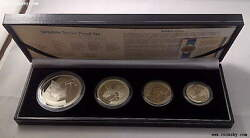 South Africa 5-50 Cents 2003 Silver Proof Set Wildlife The Rhino