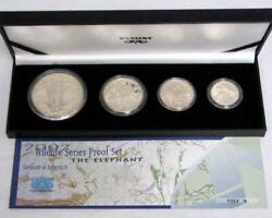 South Africa 5-50 Cents 2002 Silver Proof Set Wildlife Elephant