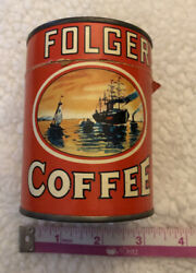 Vintage Advertising Folgers Coffee Puzzle Tin Can Promotional Item Complete 56pc