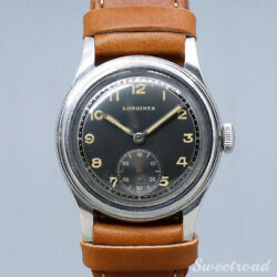 1940s Antique Longines Analog Watch Manual Cal.23m Black Two-tone Dial 31mm