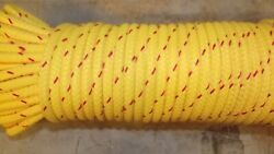 8mm 5/16 X 49and039 Nfpa Throw Line Double Braid Dyneema Core Floating Rope