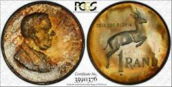 1967 South Africa Rand Afrikaans Pcgs Pr66 Toned Pop 5 Only 1 Higher Worldwide