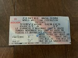 Wwf Survivor Series 1997 Ticket Stub Event Line Up Ringside Papers Authentic