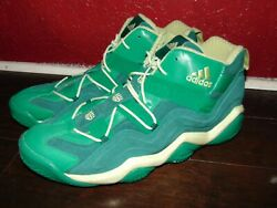 Adidas Mens Basketball Shoes Clu 600001andnbsp Green And White Size 17