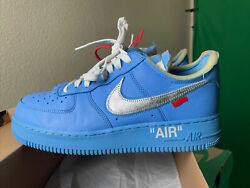 Off White Air Force 1 Mca Size 9.5 Ci1173-400 100 Authentic