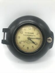 Vintage Wagner Sangamo Tachograph Meter Clock - Back Missing - As-is
