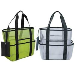 Beach Bag Extra Large Lightweight Mesh Tote Bag Portable Foldable Carry Tote Bag $18.78