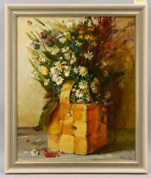 Beautiful Russian Bouquet Of Flowers With Camellias By Nadezhda Stepanova O/c