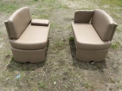 Rem Booth Dinette Seats Brown Face To Face Rv Boat Coach Motorhome Bed Used