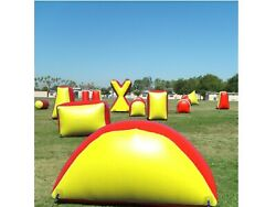 8 Piece Inflatable Air Bunker Set For Paintball Airsoft Nerf Archery And Laser Tag