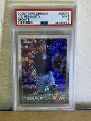 2015 Topps Chrome Update Jt Realmuto Rc Us398 Psa 9 Mint Phillies