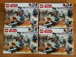 Lego Disney Star Wars 75206 Jedi And Clone Troopers Battle Pack X4 Bundle New