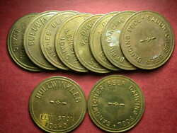 Lewiston, Id Lot Of 10-bullwinkles Sandwiches Beer Dancing Pool Tokens