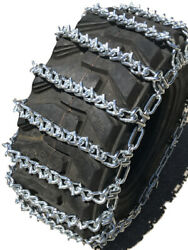 Snow Chains 15 19.5 15-19.5 Two-link V-bar Tractor Tire Chains Set Of 2
