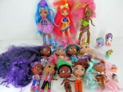 Lot Of 9 Hairdorables Dolls And 3 Cave Club Dolls Euc