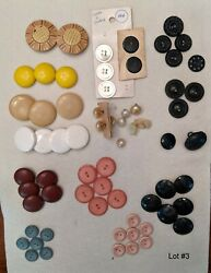 Antique And Vintage Buttons Mixed Lot Great Colors Sorted Collectible