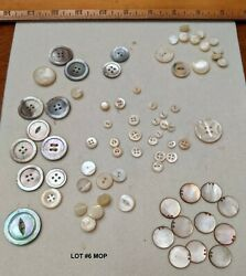 Antique And Vintage Buttons Mixed Lot Mother Of Pearl Collectible Various Size