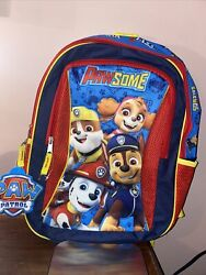 Paw Patrol PawSome 16quot; Backpack Kids School Book Bag Tote Brand New $14.44