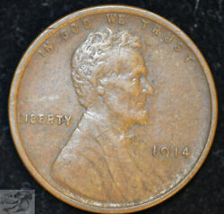 1914 P Lincoln Wheat Cent Penny Extremely Fine+ Condition Free Shipping C4824