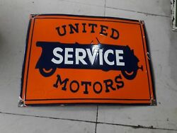 Porcelain United Service Motors Sign Size 24 X 18 Inches