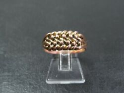 Antique Edwardian 9ct Gold Keeper Ring 1904