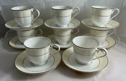 Set Of 8 Lenox Faith Cups And Saucers Made In Usa