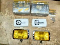 Vintage Cibie Series 175 Amber Fog Lamps With Covers 17-20-02-pair