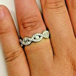14k Gold Wedding Bands Stacking Diamond Rings Box And Certificate Of Authenticity