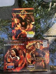 The Hunger Games Dvd Movie Lot Hunger Games, Catching Fire, Mockingjay Part 1